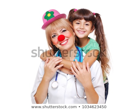 Engraçado palhaço médico isolado branco medicina Foto stock © Elnur