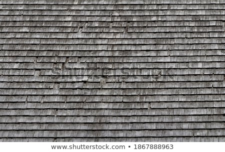 Closeup shot of background of old roof tiles Stock photo © Nobilior