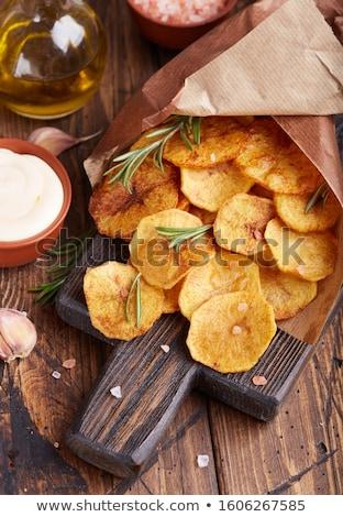 Eigengemaakt chips geïsoleerd witte voedsel vet Stockfoto © Masha