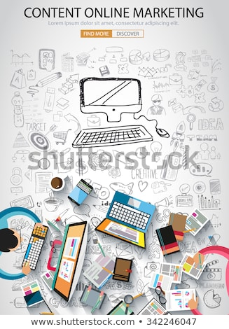 local seo concept with doodle design icons stock photo © tashatuvango
