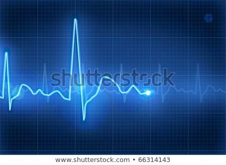 Kék orvosi elektrokardiogram absztrakt háttér gyógyszer Stock fotó © SArts