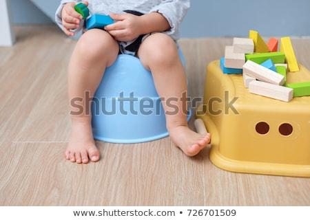 kid on potty Stock photo © Traimak