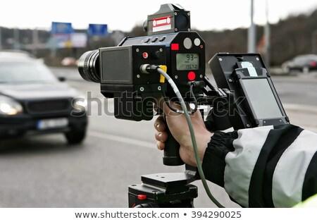 Rendőr radar forgalom sebesség irányítás spanyol Stock fotó © RAStudio