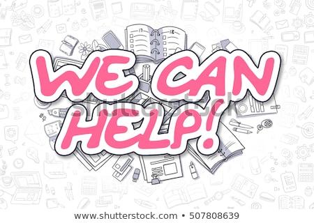 Lata ajudar rabisco magenta negócio Foto stock © tashatuvango