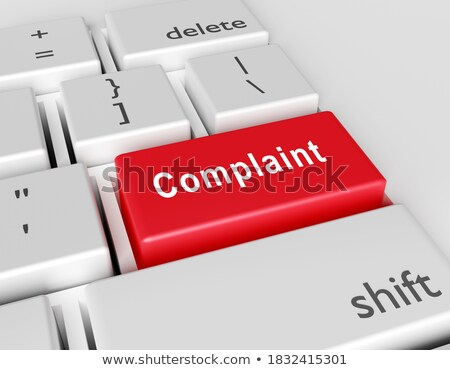 Complaint CloseUp of Keyboard. 3D. Stock photo © tashatuvango