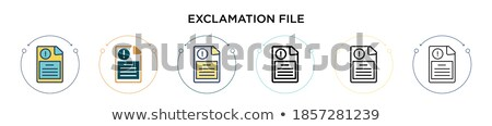 File Folder Labeled as Caution. Stock photo © tashatuvango