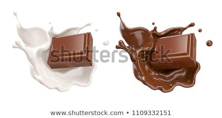 milk chocolate sweet bar on black stock photo © denismart