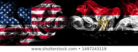 football in flames with flag of egypt stock photo © mikhailmishchenko