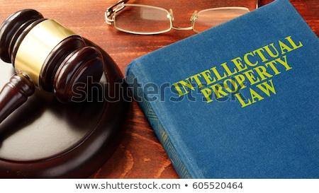 Droit d'auteur affaires livre titre colonne vertébrale Photo stock © tashatuvango