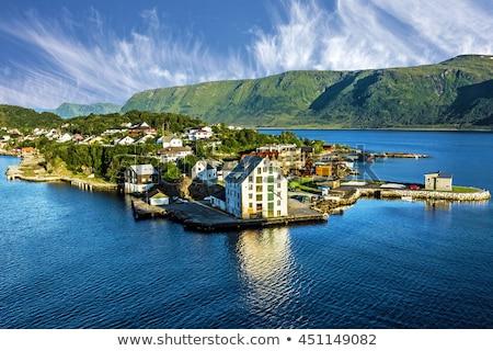Alesund city view. Norway, Europe. Stock photo © kyolshin