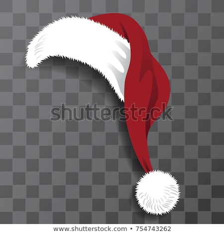 Doodle hoeden kerstman ingesteld monochroom sjabloon Stockfoto © frescomovie
