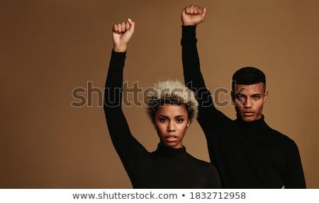 Activista masculina persona bufanda cara Foto stock © stevanovicigor