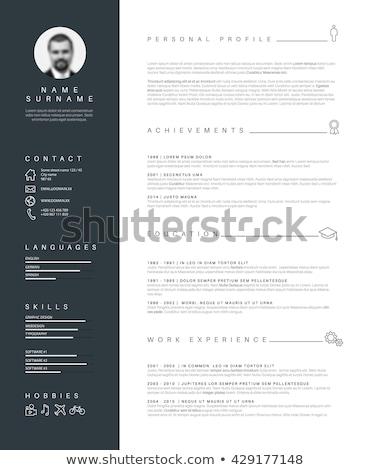 Nowoczesne timeline szablon nice typografii wektora Zdjęcia stock © orson