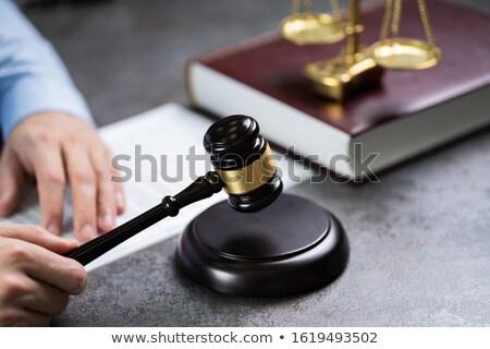 gabela · estetoscópio · livro · lei · justiça - foto stock © andreypopov