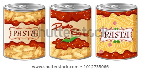 pâtes · emballage · isolé · blanche · alimentaire · boîte - photo stock © bluering