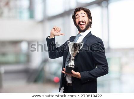 Athlete men with winning prizes Stock photo © bluering