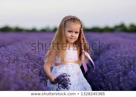 красивая девушка белый кружево платье красивой Сток-фото © svetography
