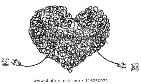 Connected hearts vector illustration clip-art image stock photo © vectorworks51