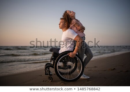 Man supporting his girlfriend Stock photo © IS2