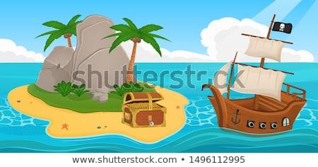 isla · tropical · imagen · agua · naturaleza · arte · palma - foto stock © natali_brill