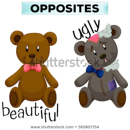 opposite wordcard for cute and ugly stock photo © bluering