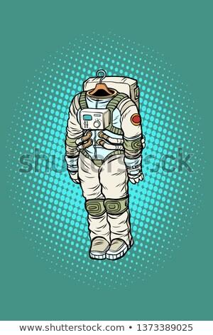 Astronaute suspendu cintre pop art rétro dessinées Photo stock © studiostoks