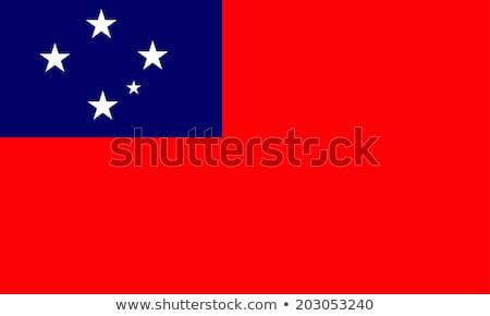 Stok fotoğraf: Samoa · bayrak · beyaz · soyut · boya · arka · plan