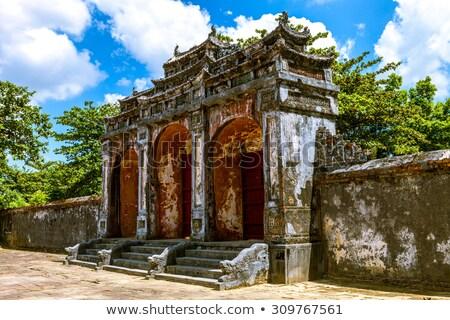 Hue, Vietnam. Dai Hong Mon gates of Minh Mang Tomb stock photo © romitasromala