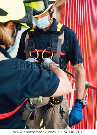 Firefighter man Sports & exercise Stock photo © toyotoyo