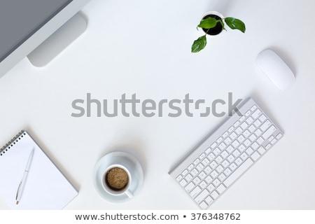 Georganiseerd grijs kantoor desktop moderne computer Stockfoto © tab62