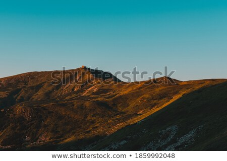 sunrise mountain observatory ruins view stock photo © wildman