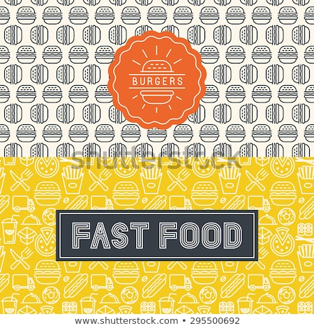 fast food icon style seamless vector pattern stock photo © yopixart