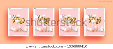 Satış dizayn şık altın harfler beyaz Stok fotoğraf © user_11870380