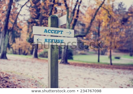 Accept Or Refuse Arrows Concept Stock photo © ivelin