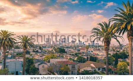 la · Los · Angeles · coucher · du · soleil · Skyline · trafic · Californie - photo stock © vichie81