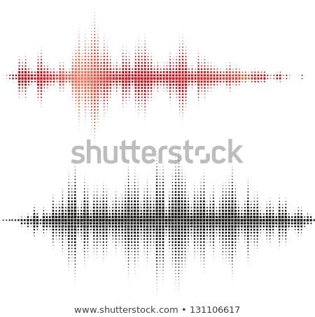 Wektora fala dźwiękowa kolorowy dźwięku fale strony Zdjęcia stock © Designer_things