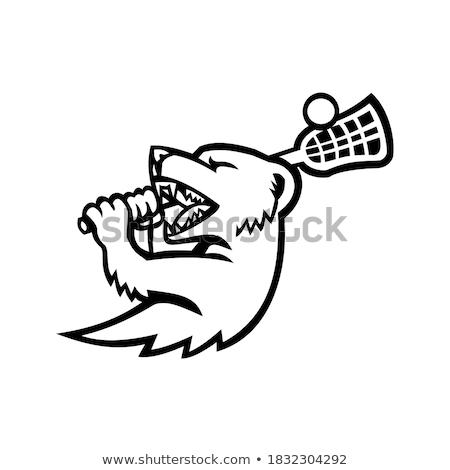 Mongoose Lacrosse Mascot Stock photo © patrimonio