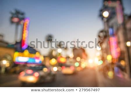 Foto stock: Las · Vegas · turva · noite · abstrato · cidade · cityscape