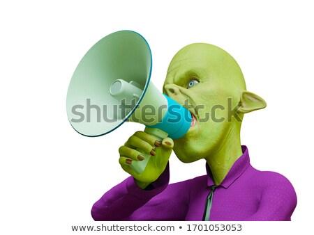 Cartoon Orc Talking Stock photo © cthoman