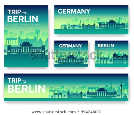 Set of Germany landscape country ornament travel tour concept. Culture traditional, flyer, magazine, Stock photo © Linetale