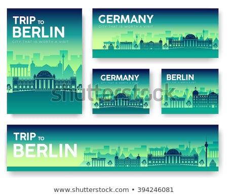 セット · ドイツ · 風景 · 国 · 飾り · 旅行 - ストックフォト © Linetale