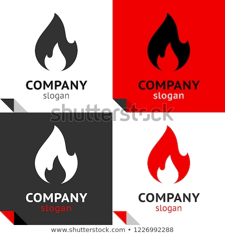 Сток-фото: огня · пламя · новых · набор · четыре · логотип