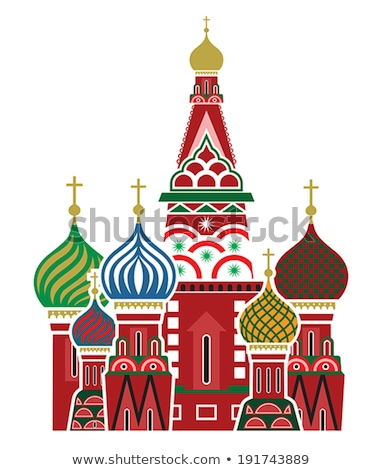 moscow st basil cathedral vector illustration stock photo © robuart