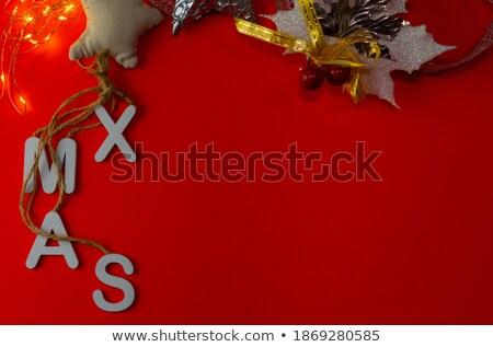 Tekst skrót christmas słowo biały Zdjęcia stock © nito