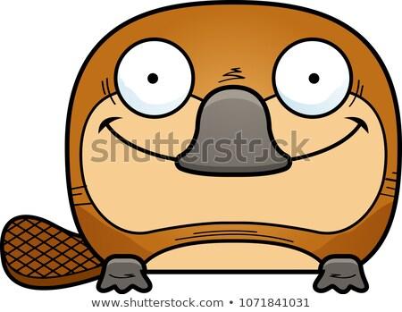 Cartoon illustratie weinig jonge dier top Stockfoto © cthoman