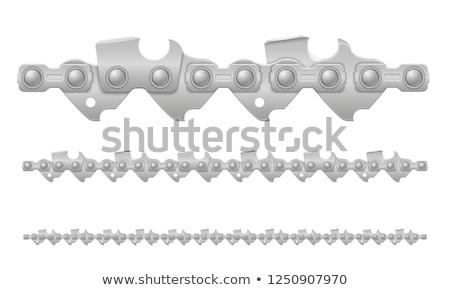 бензопила цепь металл изолированный белый дерево Сток-фото © konturvid