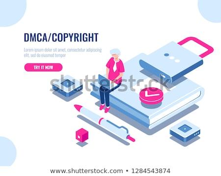 Kreatív szerzői jog rajz illusztráció akta ecset Stock fotó © cthoman
