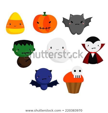 Cartoon candy mais mostro illustrazione guardando Foto d'archivio © cthoman
