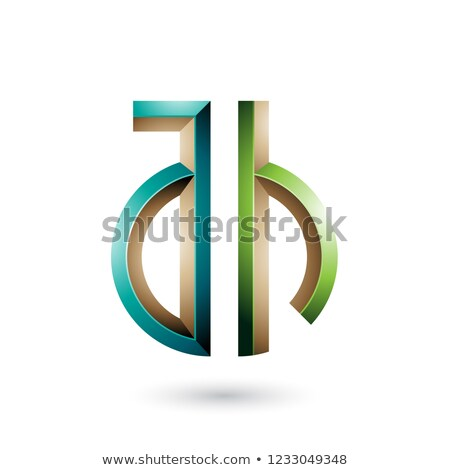 Dark and Light Green Key-like Symbol of Letters A and H Vector I Stock photo © cidepix