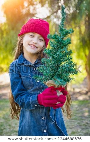 Cute giovane ragazza indossare rosso Foto d'archivio © feverpitch